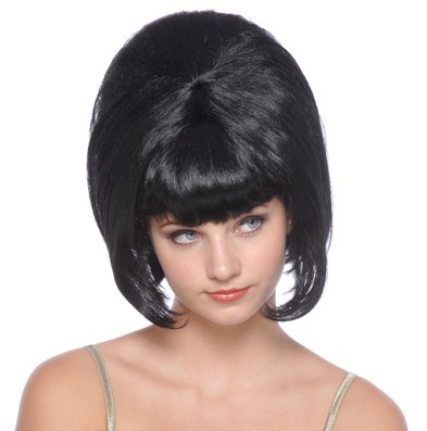 60-s évek női paróka fekete (57330-E)