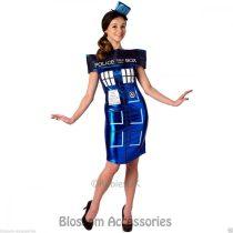 Rubies Doctor who cosplay tardis dress rendőrnő felnőtt farsangi jelmez