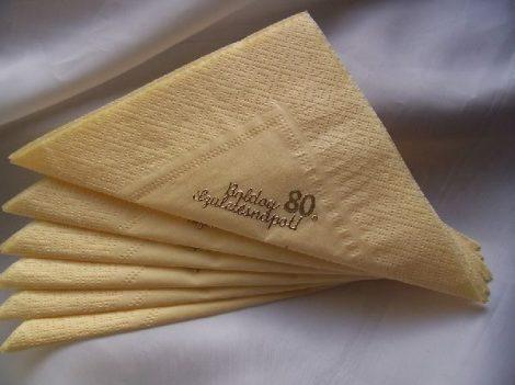 évszámos szalvéta (12 db/cs) 80 év
