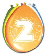"""""""2"""" évszámos lufi (8 db/cs)"""
