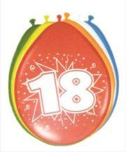 """""""18"""" évszámos lufi (8 db/cs)"""