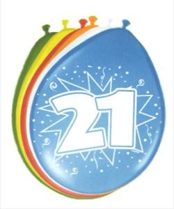 """""""21"""" évszámos lufi (8 db/cs)"""