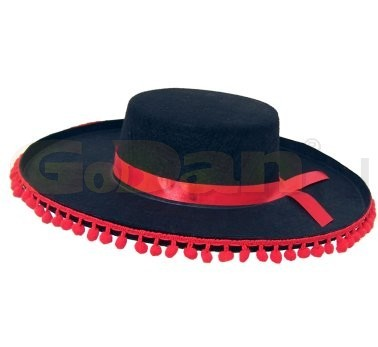 sombrero (mexikói) fekete-piros