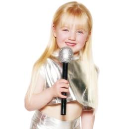 mikrofon (ezüst színben)