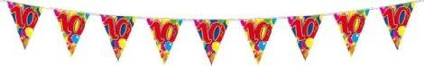 """10 m hosszú zászlógirland """"10"""""""