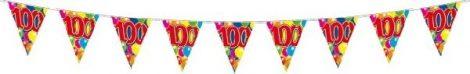 """10 m hosszú zászlógirland """"100"""""""