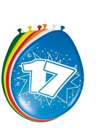 """""""17"""" évszámos lufi (8 db/cs)"""