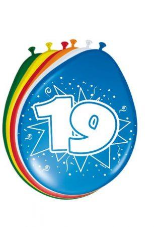 """""""19"""" évszámos lufi (8 db/cs)"""