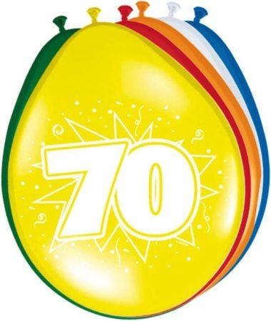"""""""70"""" évszámos lufi (8 db/cs)"""