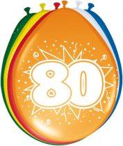 """""""80"""" évszámos lufi (8 db/cs)"""