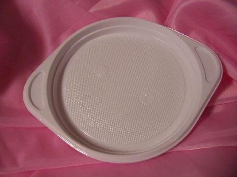 műanyag tányér 18 cm-es (10 db)