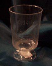 műanyag snapszos pohár (talpas)-20 db