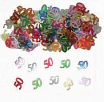 """""""50"""" évszámos konfetti (14 gr.)"""