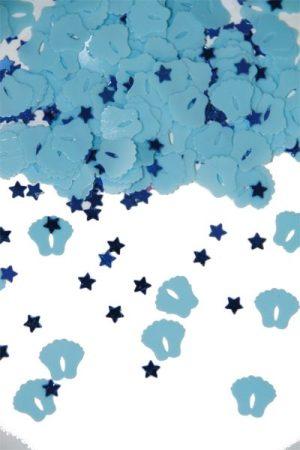 bébi lábnyom konfetti kék (14gr.)
