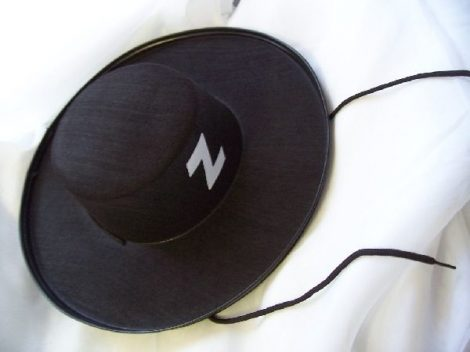 zorro textil kalap