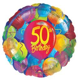 """50"" fólia lufi ( 45 cm) színes lufis"