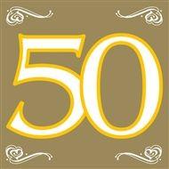 arany szalvéta 33*33 (20 db) 50 év