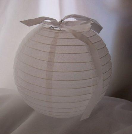 lampion gömb 25 cm-es, szalag nélkül (fehér)