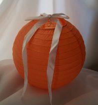 lampion gömb 25 cm-es, szalag nélkül (narancs)