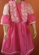 rózsaszín hercegnő jelmez fodorral (140-es méret)