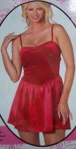 Piros bársony ruha (44-46 méret)