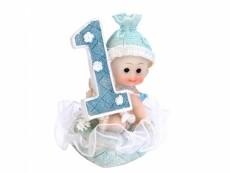 1 éves szülinapi dísz kisfiú (7 cm)