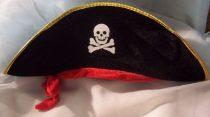 Kalóz kapitány kalap GYEREK MÉRET(plüss)