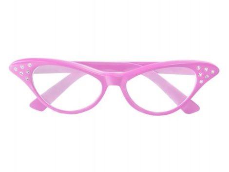 Rózsaszín strasszköves szemüveg