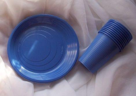 kék evőeszköz szett (10 db kés+10 db villa)