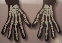 csontváz kesztyű (60365)- E.