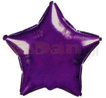Csillag fólia lufi lila (45 cm)