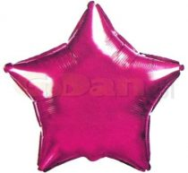 Csillag fólia lufi pink (45 cm)