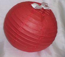 piros papír lampion gömb 40 cm-es (szalag nélkül)