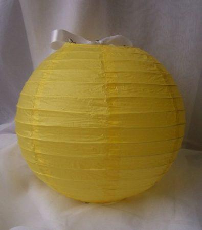 lampion gömb 25 cm-es, (sárga) 16103