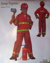 tűzoltó jelmez (140 méret)