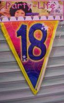 színes 18. évszámos zászlógirland (5 m)
