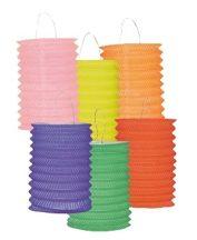 egyszínű henger lampion több színben (16 cm) (30385-B.)