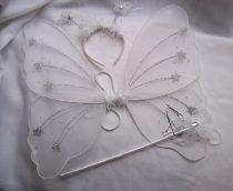 pillangó szett 3 részes (48*40 cm) fehér