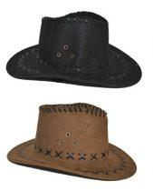 gyerek velúr cowboy kalap fekete és barna (50515)