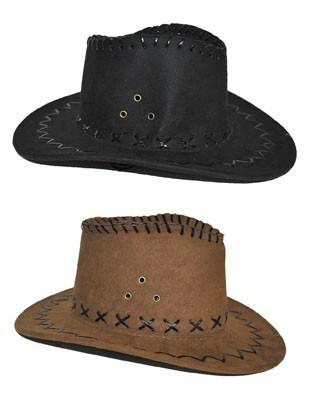 gyerek velúr cowboy kalap fekete, piros vagy pink színben (50515)