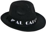Al Capone fekete gengszter kalap
