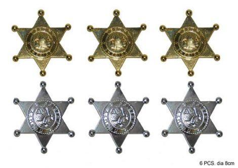 Sheriff csillag, 6 db (65024)