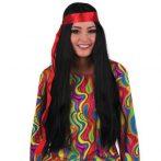 hippie paróka női, fekete (57304-E)