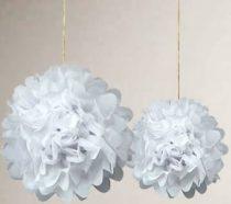 papír gömb / pom-pom (35 cm átmérő )fehér