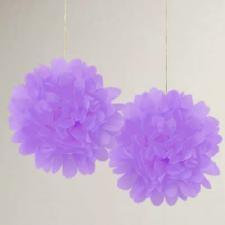 papír gömb / pom-pom (35 cm átmérő )lila