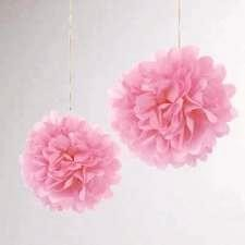 papír gömb / pom-pom (37 cm átmérő )rózsaszín