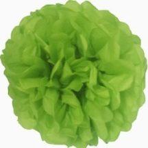 papír gömb / pom-pom (37 cm átmérő )zöld