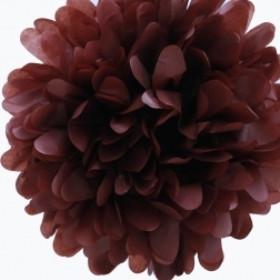 papír gömb / pom-pom (25 cm átmérő )barna