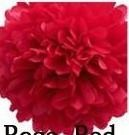 papír gömb / pom-pom (37 cm átmérő ) piros
