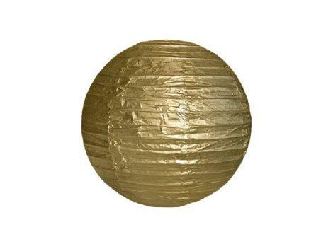 papír gömb lampion , 25 cm, arany